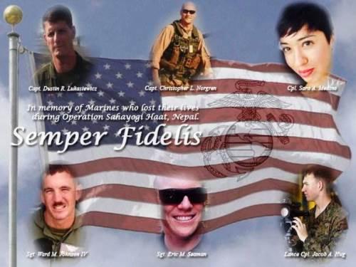 5月20日 海兵隊員6名の葬儀01