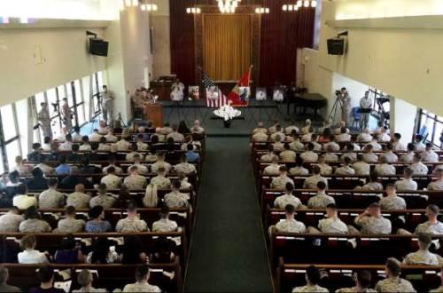 5月20日 海兵隊員6名の葬儀02