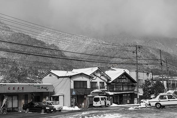 南木曽駅前