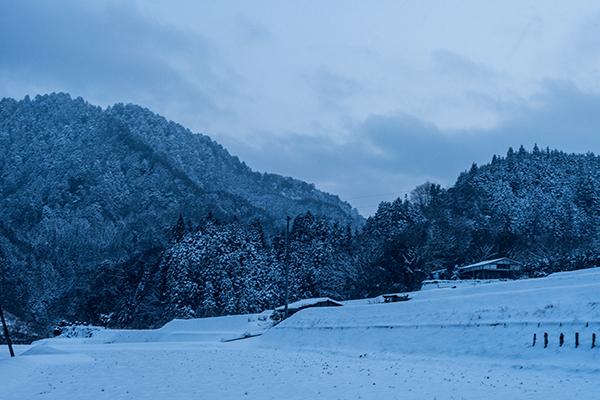 ストロボなし雪国