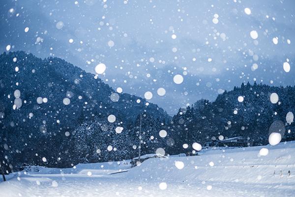 ストロボ調整雪国