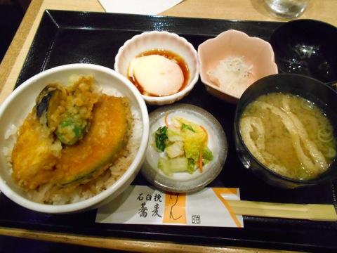 野菜天丼定食
