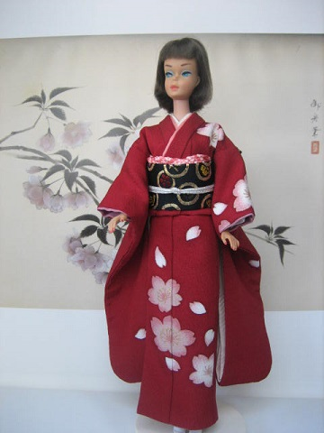 バービー 振袖 桜3