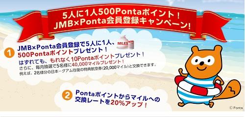 JAL×Ponta登録キャンペーン