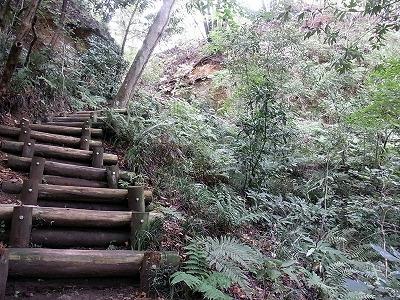 2013 年 加治丘陵への急階段