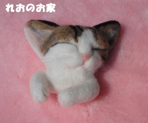 猫ブローチ1