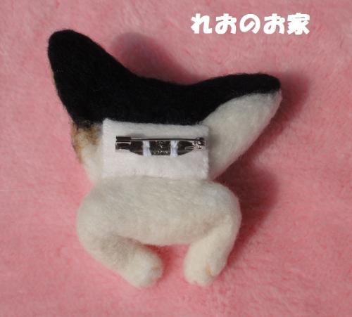猫ブローチ2