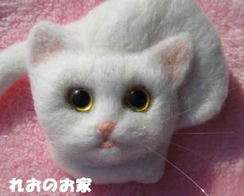 白猫ブローチ4