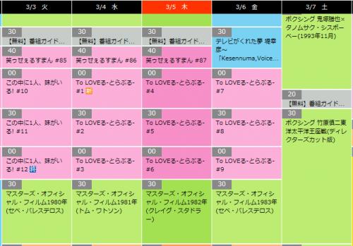TBSチャンネル番組表To LOVEる