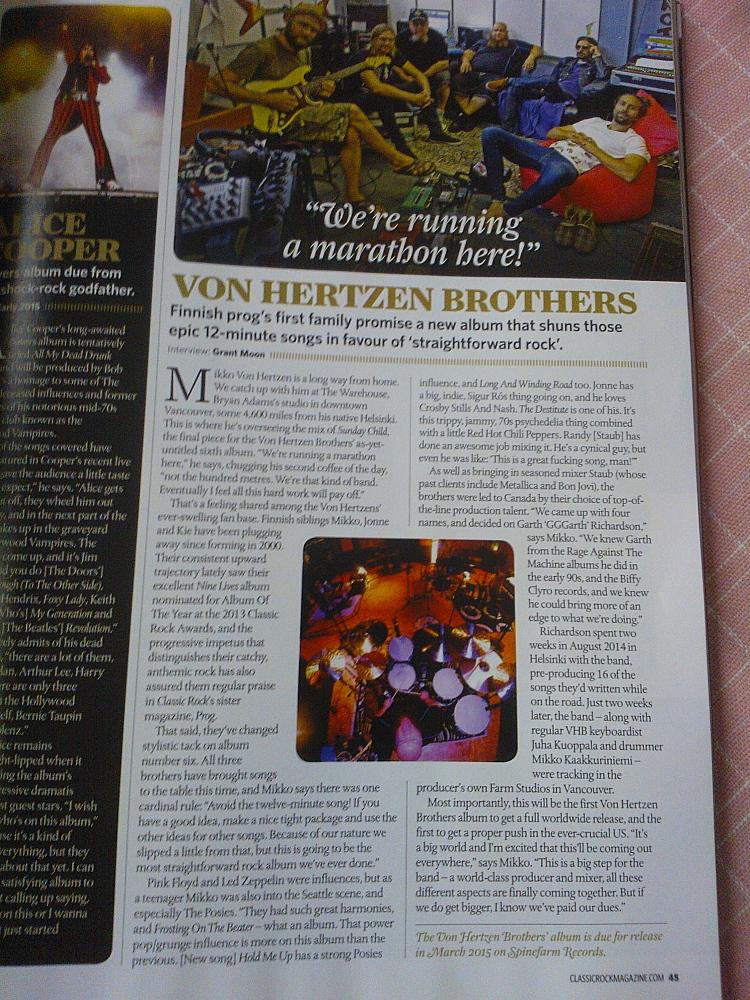 Classic Rock magazine VHB