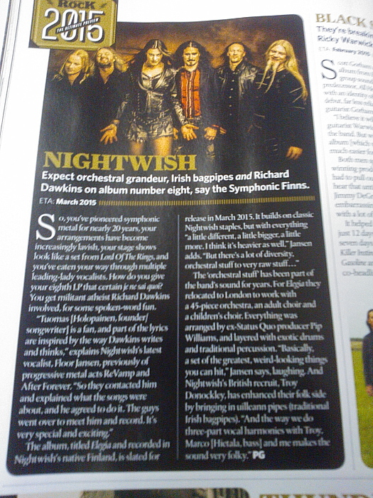 Classic Rock Magazine Nightwish