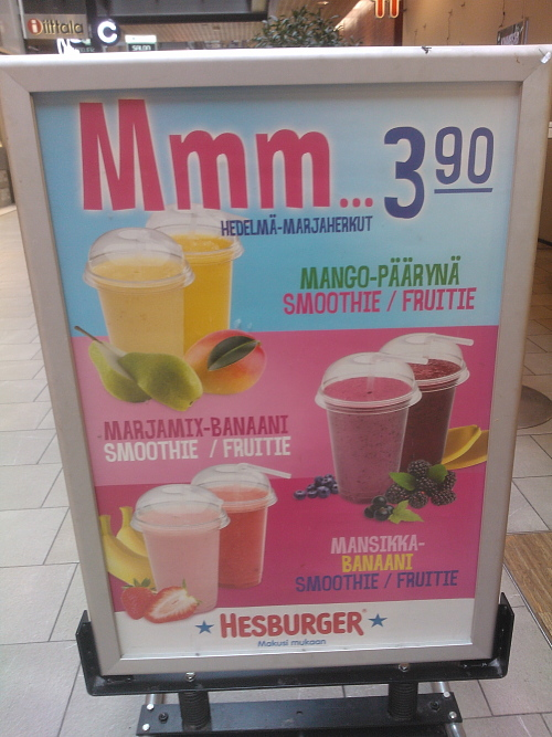 Sello Hesburger Smoothie