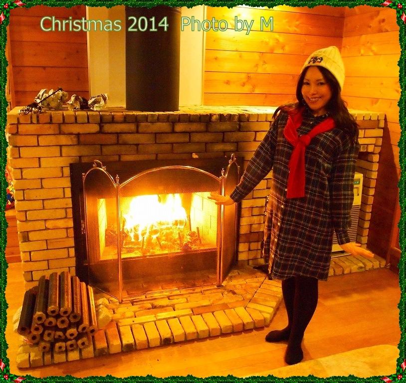穂高 暖炉1