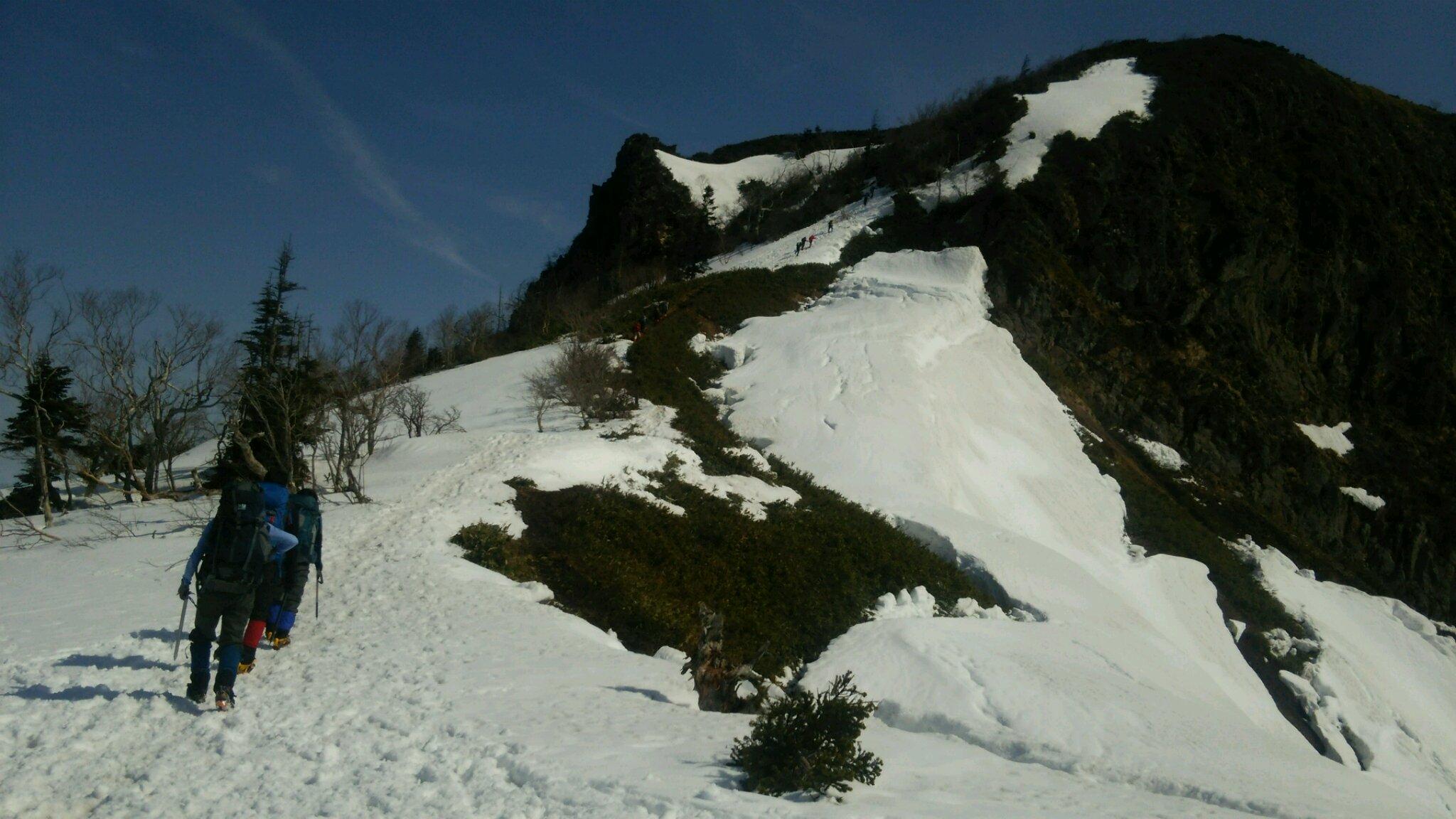 最初のピーク剣ヶ峰山