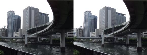 堂島川沿いの出入橋②(平行法)