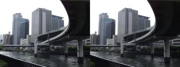 堂島川沿いの出入橋②(交差法)