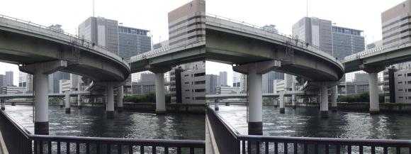 堂島川沿いの出入橋①(平行法)