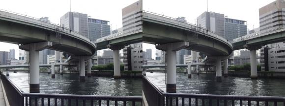 堂島川沿いの出入橋①(交差法)