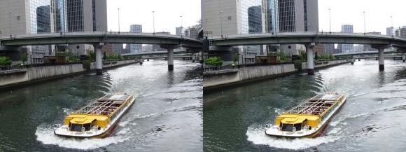 渡辺橋からの堂島川(平行法)