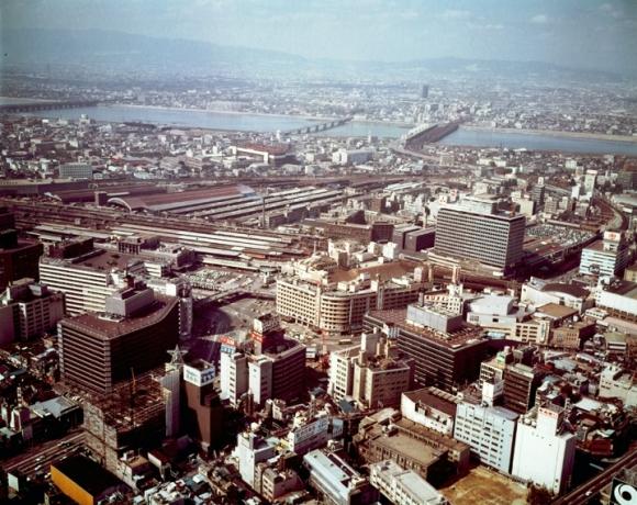 大阪梅田空撮 1972年(昭和47年)