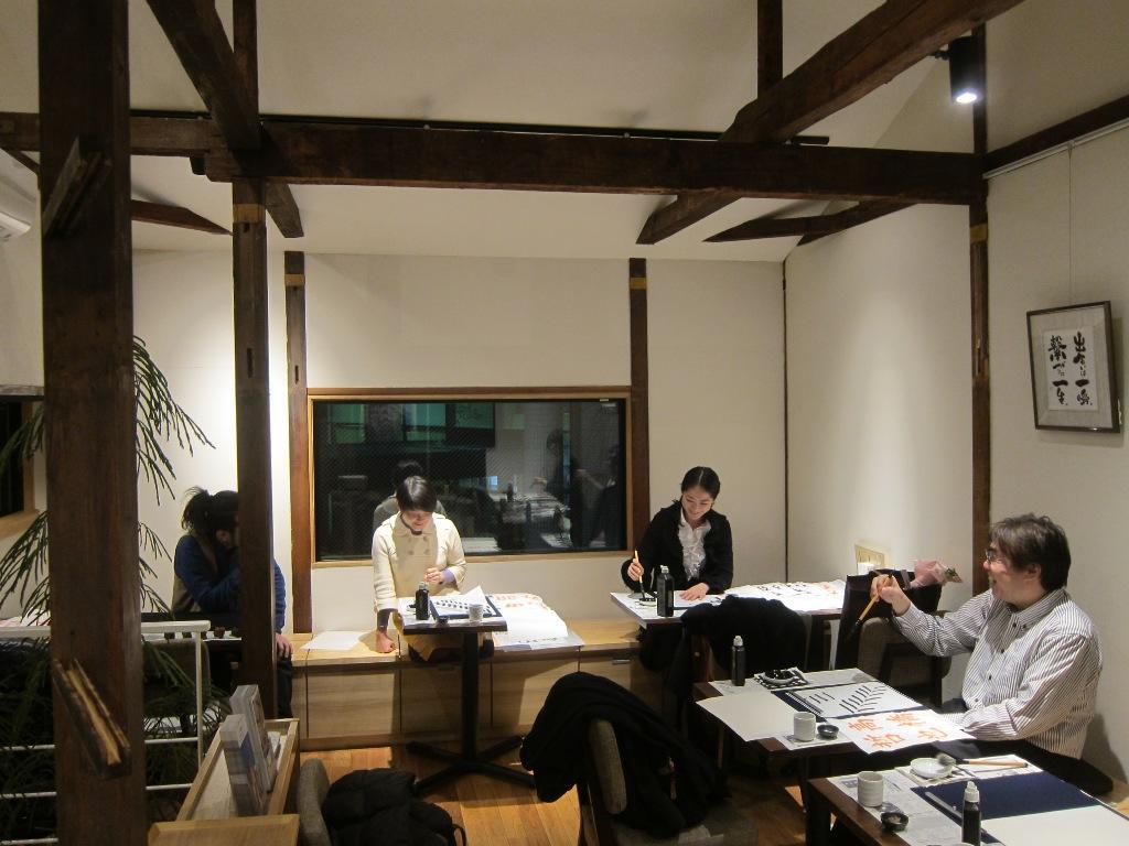 夕幻書道教室 in 梅島 教室の練習風景7