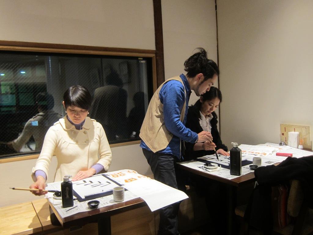 夕幻書道教室 in 梅島 教室の練習風景5