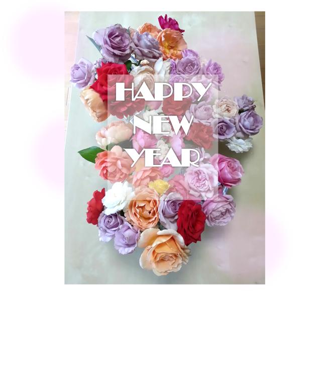 2015年賀状バラ
