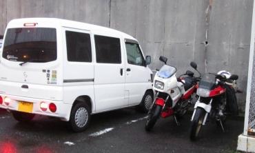 2015年KROG東海ミーティング「ガスト富士宮店」三菱ミニキャブU61V KR250 FZ250