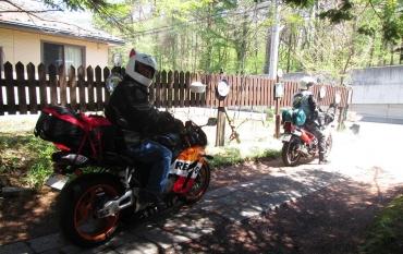 KAWASAKI KR250 HONDA CBR1000RR KROG 2015年 軽井沢 シルバーストーン ペンション Karuizawa Pensions motorbike motorcycle Touring