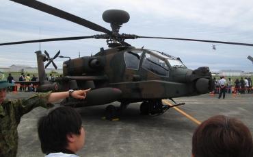 AH-64DJPアパッチ・ロングボウ 戦闘ヘリコプター 陸上自衛隊 明野駐屯地 陸上自衛隊航空学校 開発実験団飛行実験隊 2015年 静浜基地航空祭 航空自衛隊JASDF Shizuhama Airbase