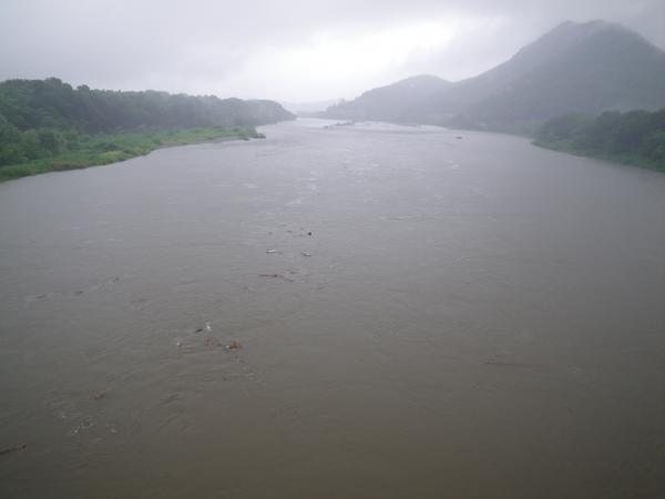7月18日の千鳥橋下流