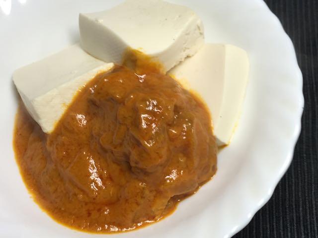 バターチキン豆腐