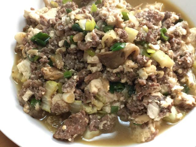 ひき肉豆腐煮込