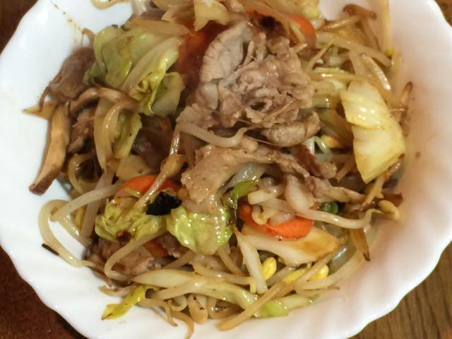 ラム野菜炒め