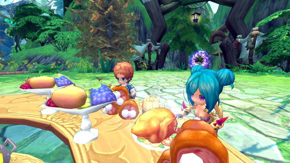基本プレイ無料のハンティングファンタジーMMORPG『ハンターヒーロー』 仲間と食事すると経験値を入手できる新コンテンツ「ハンター宴会」を6月4日(木)に実装だ