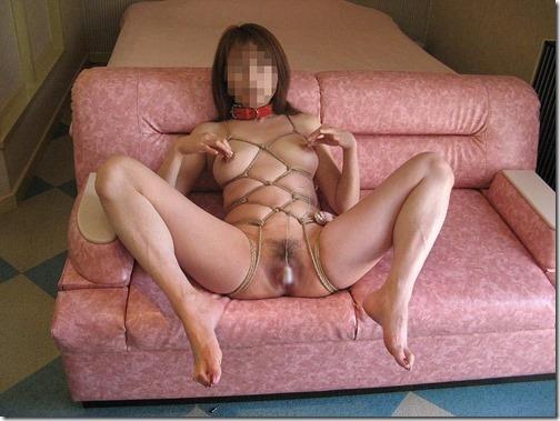 【SM緊縛エロ画像】昭和風、夫婦のSMは戯れに似て15