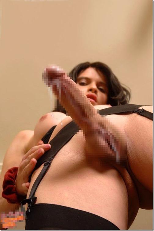 【三次元ふたなりエロ画像2】女性器の位置は人それぞれの両性具有者のエロ画像14