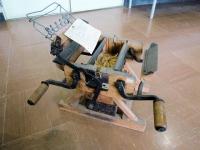 韮崎市民俗資料館の蔟折り機