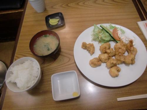 中華風とり天定食