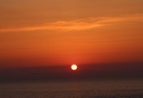 2015GW佐渡に沈む夕陽