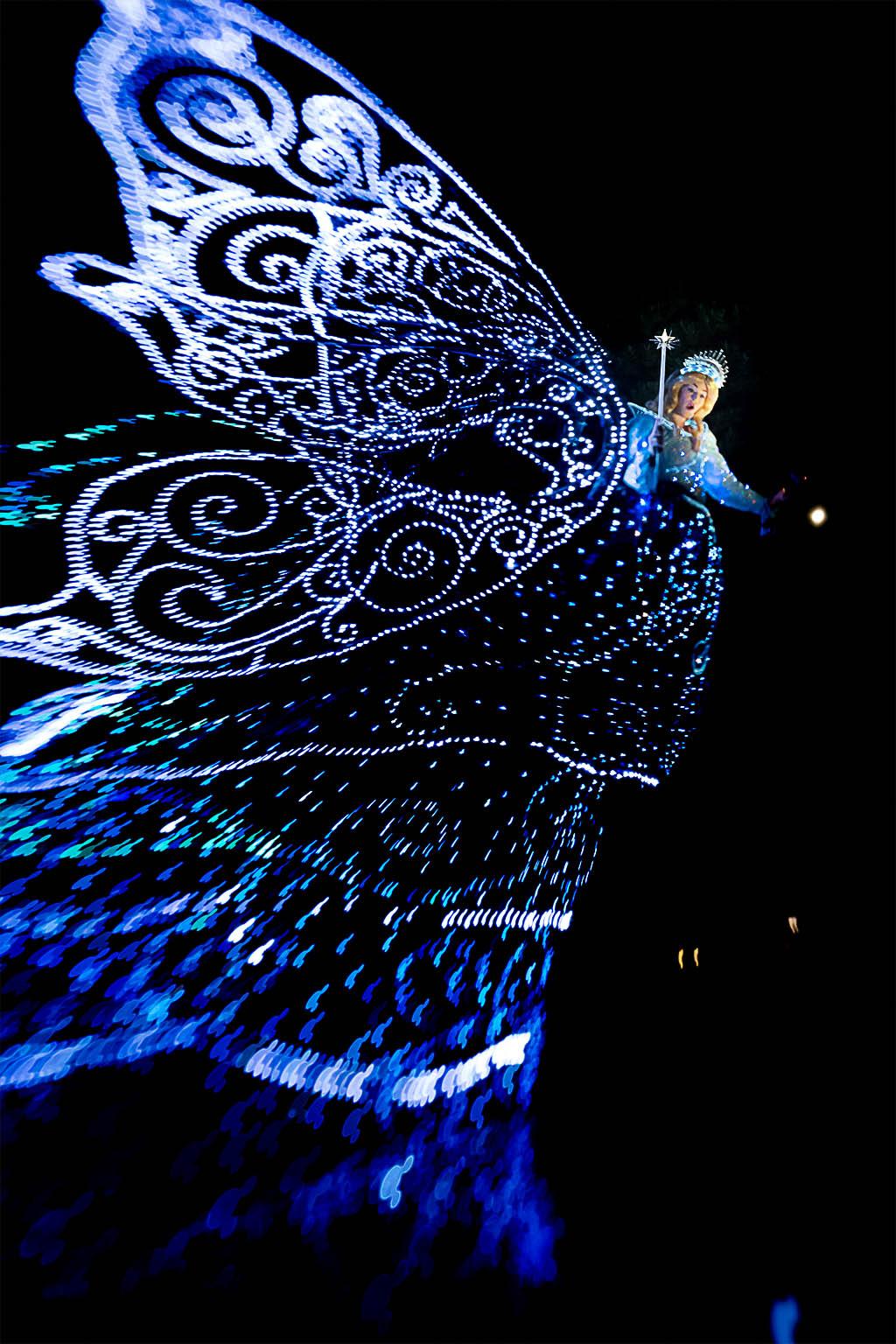 ブルーフェアリーのミッキーシャワー(東京ディズニーランド・エレクトリカルパレード・ドリームライツ)