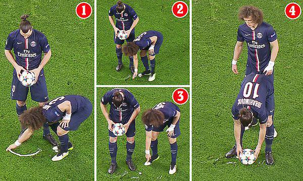 David Luiz vanishing spray