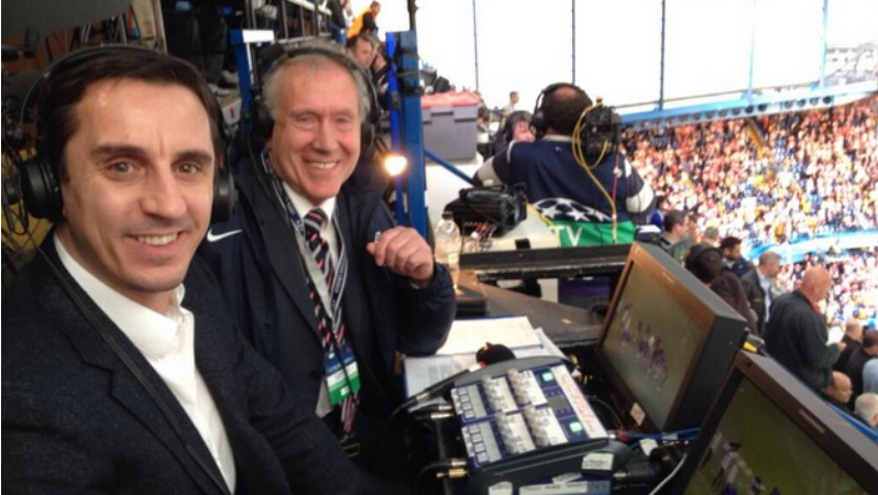 Martin Tyler and Gary Neville