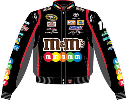 Kyle Busch Black MMs 2010 NASCAR Uniform Jacket