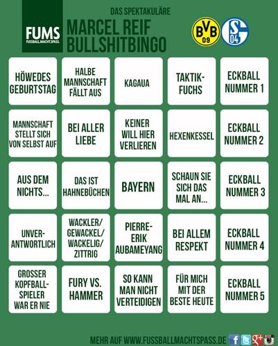 Marcel Reif Bullshit Bingo