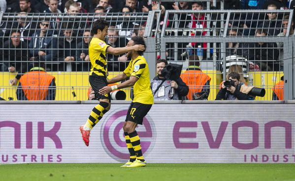 Dortmund 2-0 Frankfurt Aubameyang Kagawa