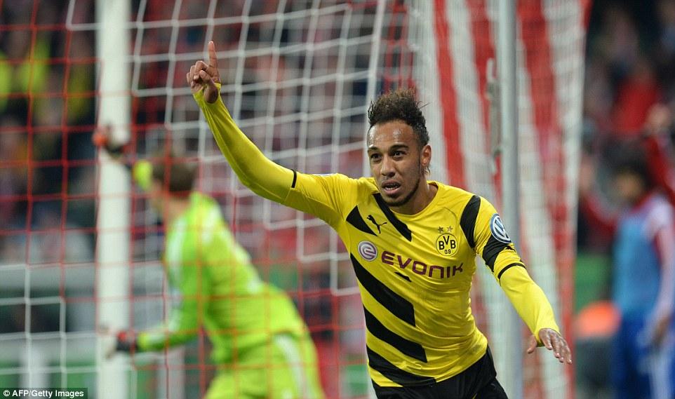 Aubameyang equaliser_Bayern 1-1 Dortmund