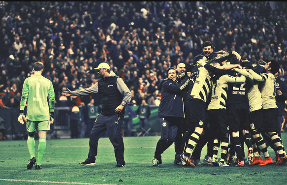 Bayern 1-1 Dortmund_celebrate victory_2