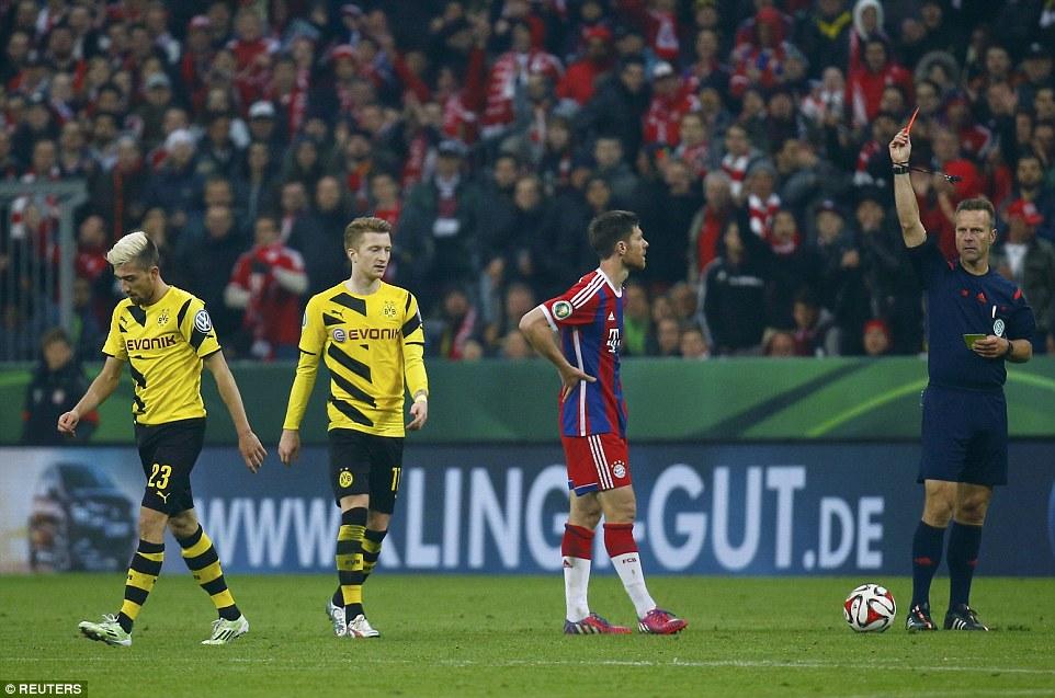 Kampl_sent_off_Bayern 1-1 Dortmund