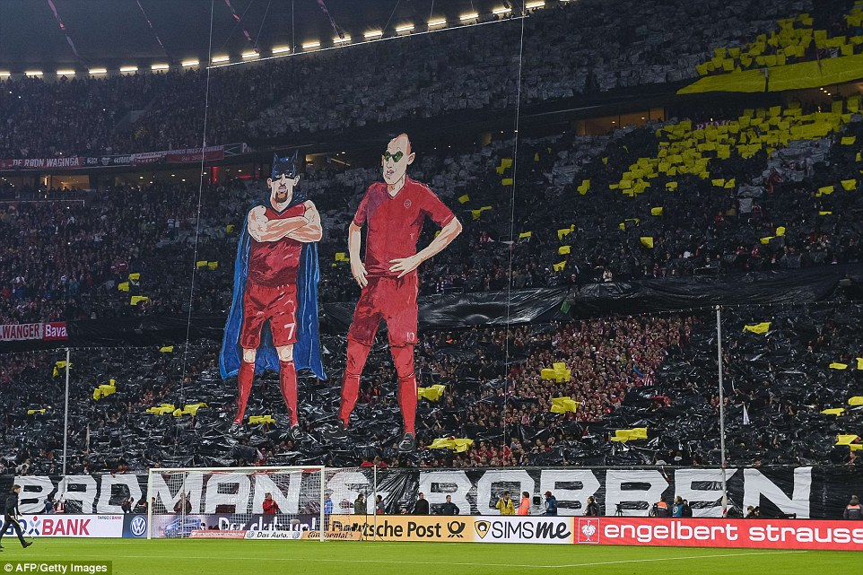Ribery Batman and Robben as Robin